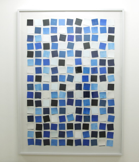 , 'Handmade: Sem título (Messy squares) - blue,' 2017, Galeria Nara Roesler