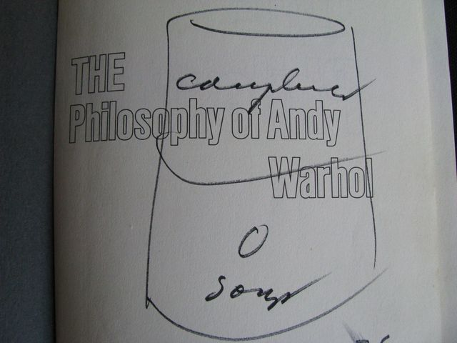 """Andy Warhol, '""""Campbells Soup Can"""", Drawing, Signed Twice, """"The Philosophy of Andy Warhol (From A to B and Back Again)"""", UNIQUE', 1976, Drawing, Collage or other Work on Paper, Ink on paper, VINCE fine arts/ephemera"""