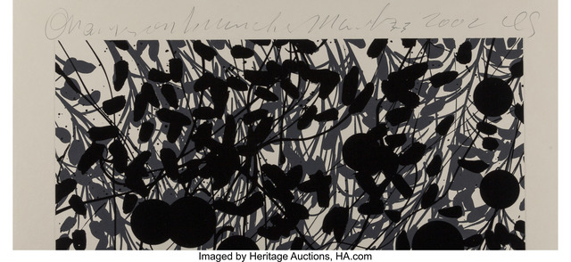 Donald Sultan, 'Orages on Branch', 2002, Print, Etching with silkscreen and flocking on heavy wove paper, with full margins, Heritage Auctions