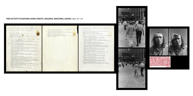 , 'Two activity situation using streets, walking, watching, losing,' 1969, Galleria Michela Rizzo