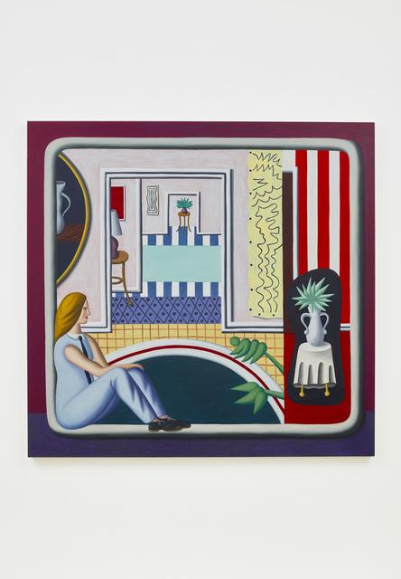 Jonathan Gardner, 'The Writer', 2019, Painting, Oil on linen, Casey Kaplan