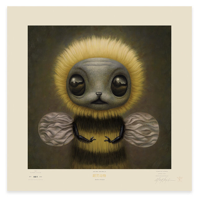 Mark Ryden, 'Bee', 2020, Print, Lithograph on heavyweight FSC certified responsibly sourced paper, Gallery Auximenes