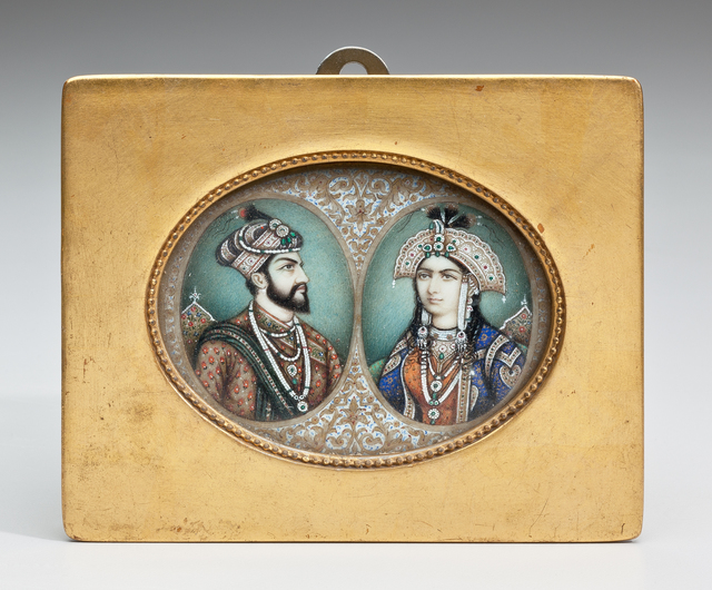 , 'Double Portrait of Mughal Emperor Shah Jahan (1592–1666) and Empress Mumtaz (1593–1631),' late 19th century-late Mughal Period (1526–1857) or British Raj Period (1858–1947), Phoenix Art Museum