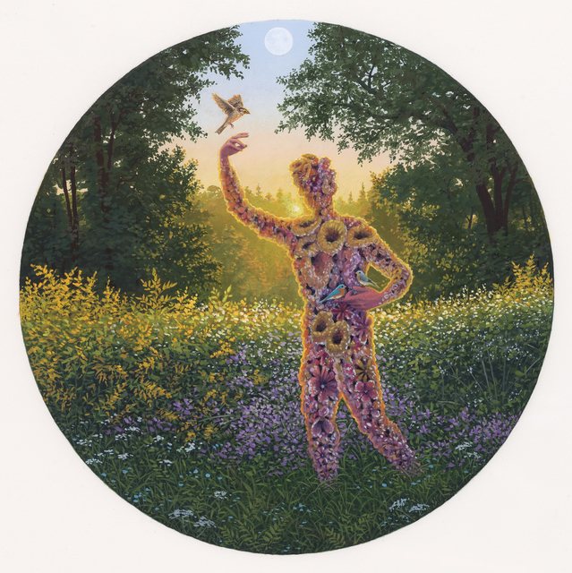 , 'First Night: Bird Gardener Greeting the Dawn,' 2019, Beinart Gallery