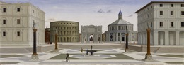 Fra Carnevale, 'The Ideal City', ca. 1480-1484, Painting, Oil and tempera on panel, Walters Art Museum