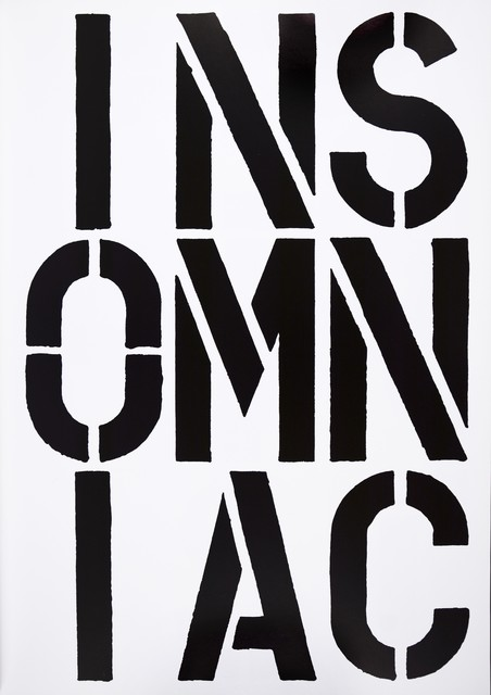 , 'Christopher Wool, INSOMNIAC, screenprint, signed, 1989,' 1989, Shapero Modern