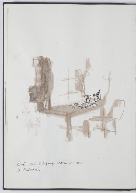 , 'Sketchbook drawing - eerst een viergangen menu en dan het moraal ,' 2015, PLUS-ONE Gallery - Antwerp