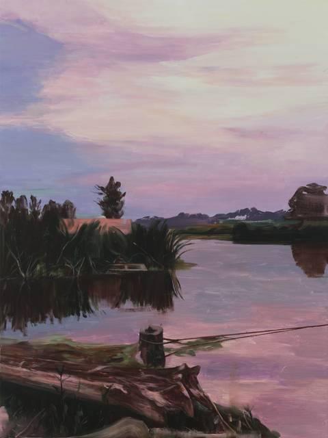 , '夕阳河畔 Sunset in Riverside,' 2017, Matthew Liu Fine Arts