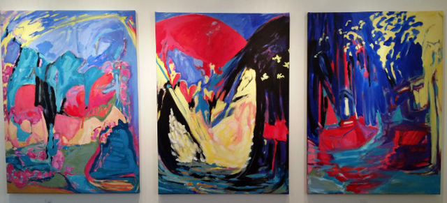 , 'Luminous Voyage - triptych #3, #4, #5,' 2016, Salomon Arts Gallery