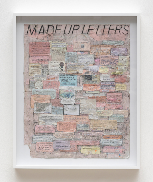 , 'Made Up Letters,' 2018, Fortes D'Aloia & Gabriel