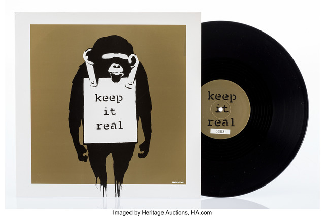 Banksy, 'Keep it Real/Laugh Now (Beige)', 2008, Heritage Auctions