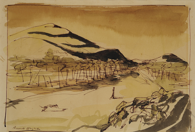 , 'Landscape with Figure,' 1949-1950, Charles Nodrum Gallery
