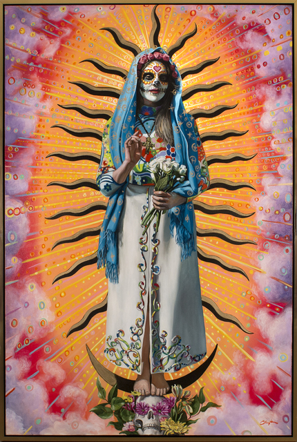 , 'Super Nova (Virgin of Guadalupe),' 2017, Blue Rain Gallery