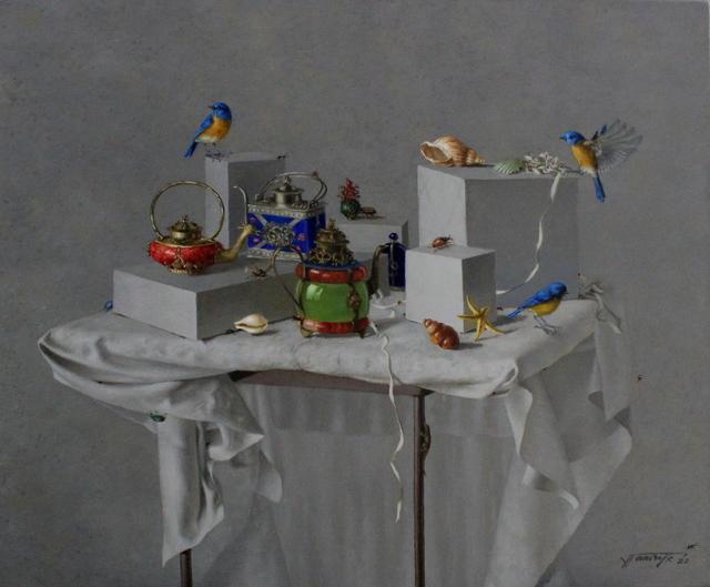 Tatyana Palchuk, 'Still Life with Chinese Tibet Teapots', 2020, Painting, Oil on linen, Alessandro Berni Gallery