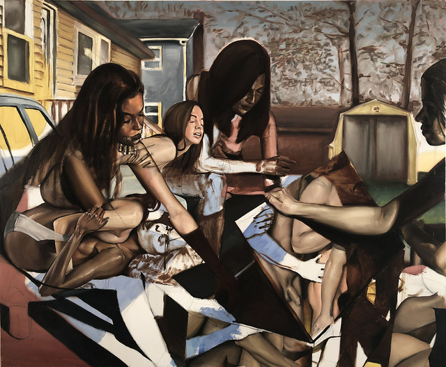 John Krausman Lark, 'The Island', 2017, Painting, Oil on linen, The Untitled Space