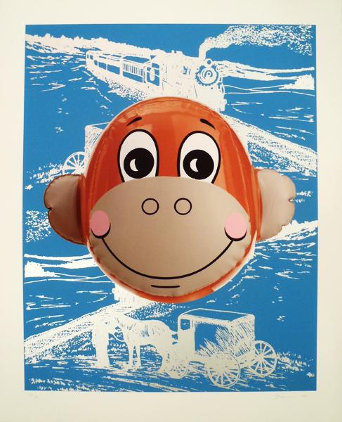 Jeff Koons, 'Monkey Train (Blue)', 2007, Hamilton-Selway Fine Art