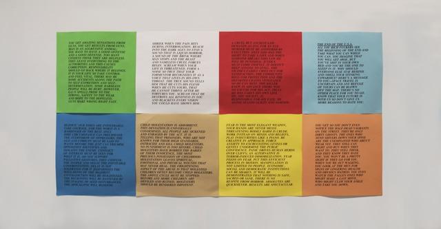 , 'Inflammatory Essays,' 1979-1982, Rhona Hoffman Gallery