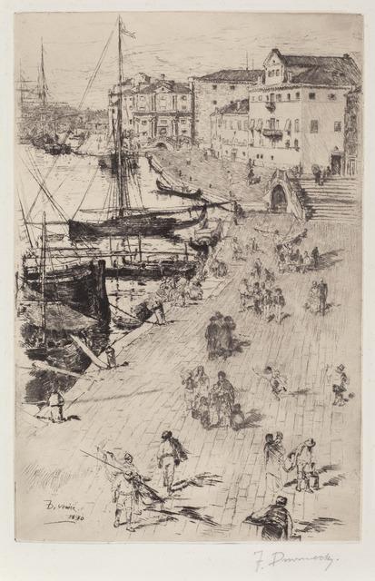 Frank Duveneck, 'Riva degli Schiavoni (1)', 1880, Print, Drypoint on chine applique paper, National Gallery of Art, Washington, D.C.