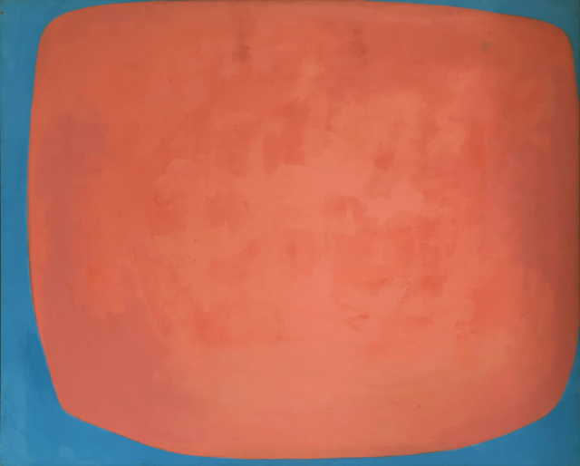 , 'Red and Blue Abstract,' 1960-1969, Modern West Fine Art