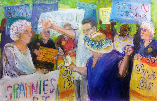 , '#8201 Granny Peace Brigade Series: July 4th, Reading the Constitution,' 2011, Salomon Arts Gallery