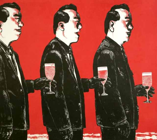 Su Xinping 苏新平, 'Comrade and Toast Series No. 4', 2006, Print, Lithograph on paper, Addicted Art Gallery