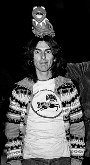 Richard E. Aaron, 'George Harrison & Kermit Hi Resolution on Hahnemuehle Paper', White Cross