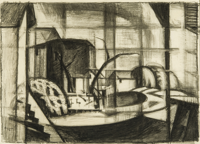 ", 'Study for ""Old Canal, Red and Blue (Rockaway, Morris Canal)"",' 1916, Hirschl & Adler Galleries"