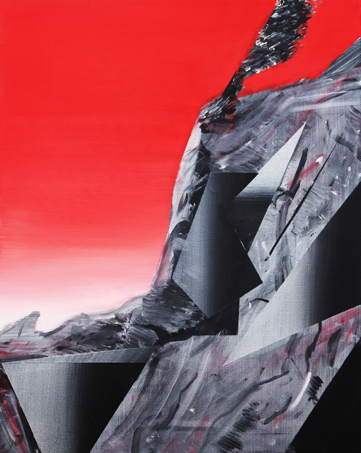 Phil Ashcroft, 'Combe Martin Catalina Red Study', 2020, Painting, Acrylic on canvas, Fousion Gallery