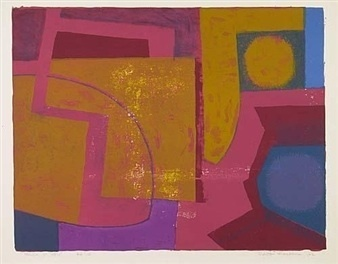 Robert Blackburn, 'Yellow on Red ', 1962, Dolan/Maxwell