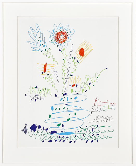 Pablo Picasso, 'Flowers, for U.C.L.A.', 1961, Print, Lithograph in colors, Rago/Wright