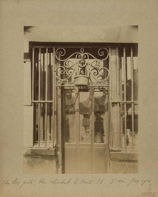 Eugène Atget, 'Au bon puits. Rue Michel le Comte 36, 3e Arr.,', June 1901, Doyle