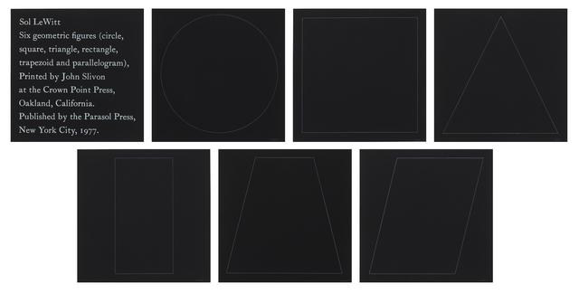 , 'Six Geometric Figures,' 1977, Susan Sheehan Gallery