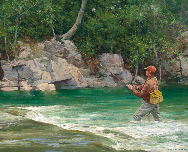 , 'Fly Fishing ,' Contemporary, The Edgartown Art Gallery, Inc.