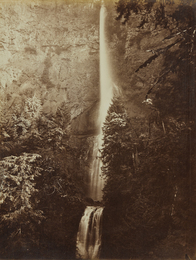 Carleton E. Watkins, 'Multnomah Falls Cascade, Columbia River,' 1867, Phillips: The Odyssey of Collecting