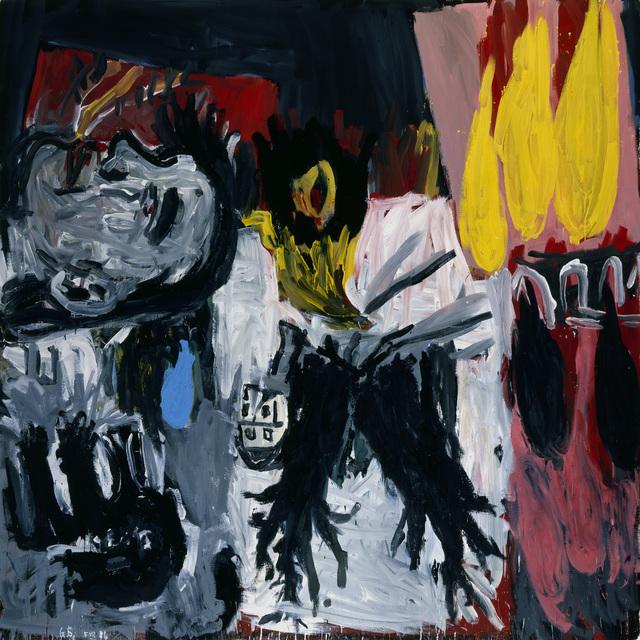 """, '""""Zwei schwarze Bäume (Two Black Trees)"""",' 1986, Michael Werner Gallery"""