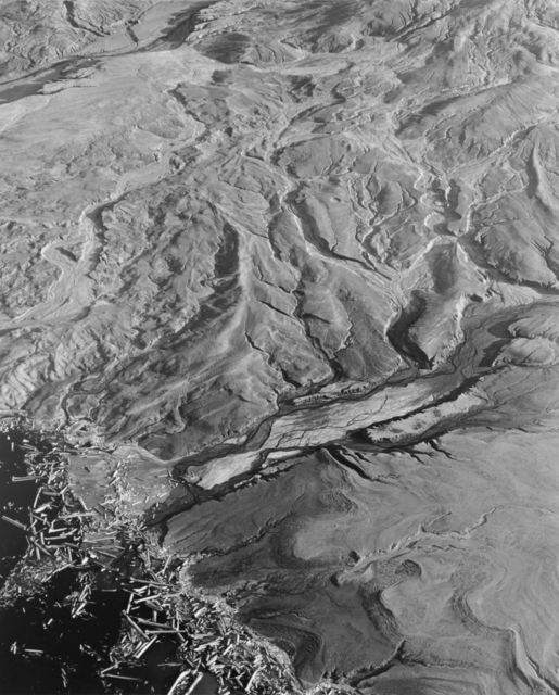 , 'Aerial view: landslide- debris flow and edge of Spirit Lake- 4 miles NE of Mt. St. Helens, Wash., 1983,' 1983, Etherton Gallery