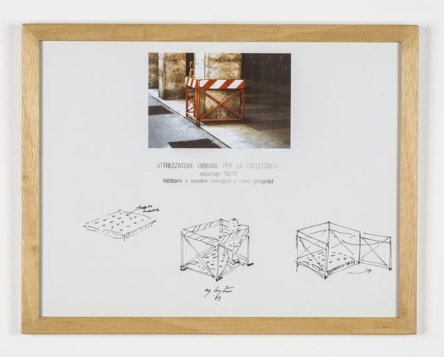 """Ugo La Pietra, 'Serie """"Attrezzature urbane per la collettività"""" - Recinto/box per neonati', 1979, Galleria Bianconi"""
