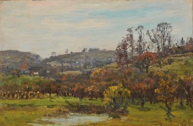 Hillside Landscape and Farm