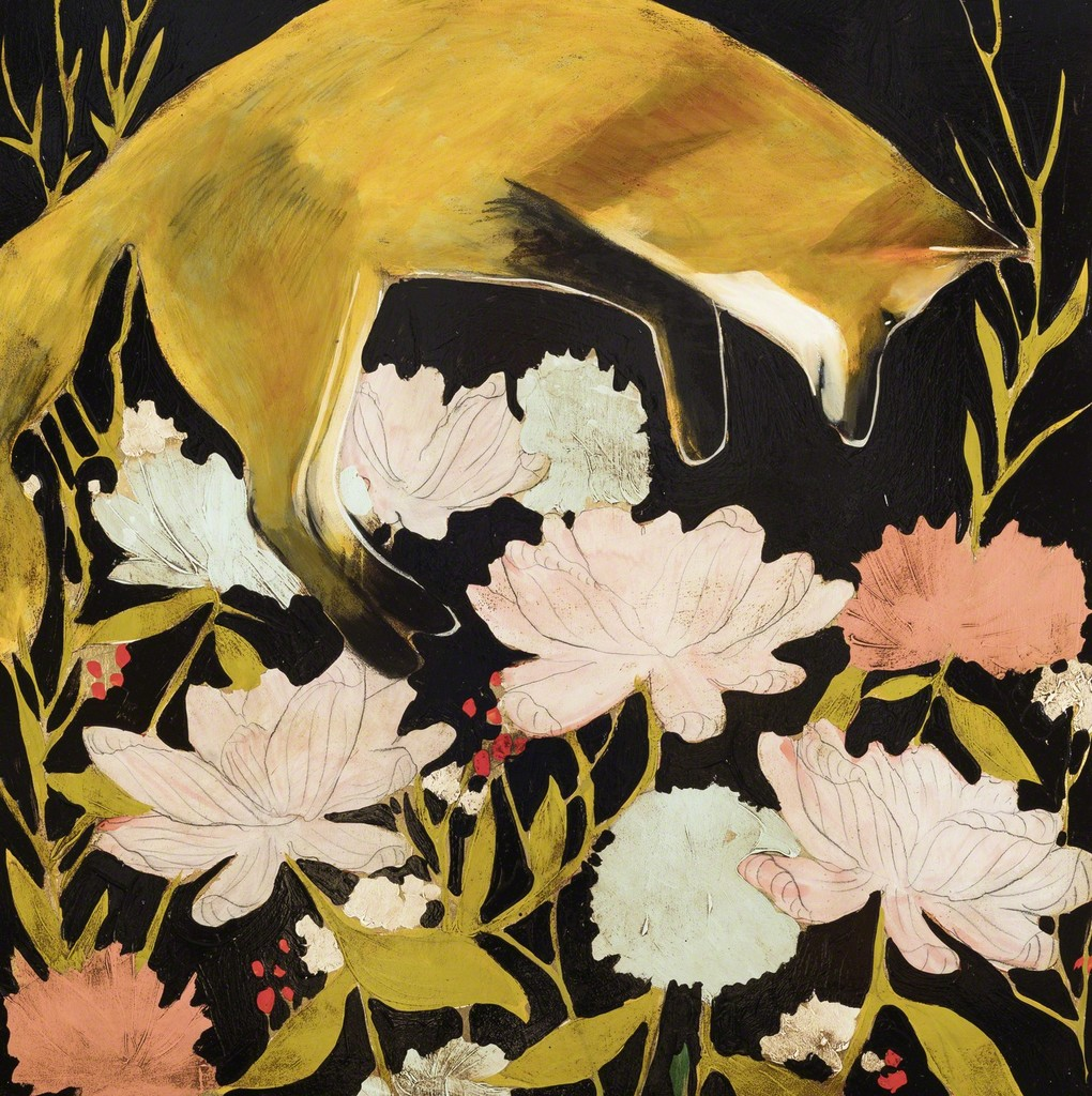 Https Artwork Yoonjee Kwak She Is Sitting On A Stool Minimal Enigma Floral Blouse Fs Larger