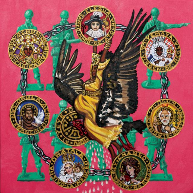 , 'Cachita Ochun & Las 7 Potencias Africas with Soldiers,' 2017, Coagula Curatorial