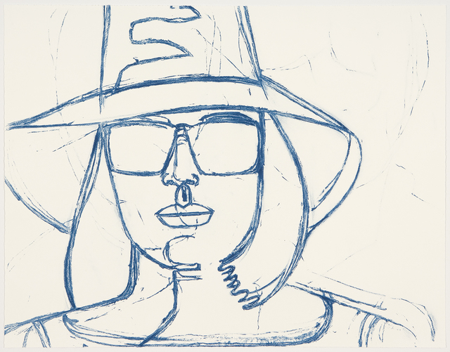 Alex Katz, 'White Hat and Sunglasses', 2008, Graphicstudio USF