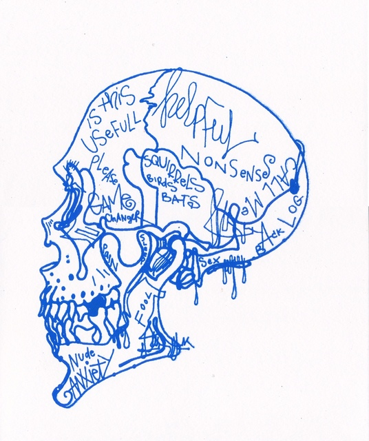 Michael Alan, 'Blue Skull Mind Chatter / Based on the Cellphone', 2019, Coalition for the Homeless Benefit Auction