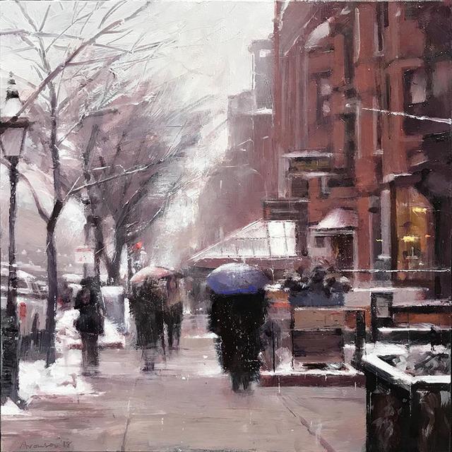 , 'December Snow, Newbury Street,' 2018, Alpha Gallery