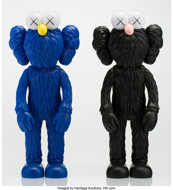 KAWS, 'BFF (Open Edition) (Black and MoMA) (two works)', 2017, Heritage Auctions
