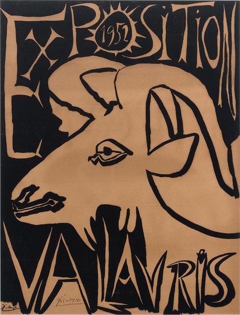 Pablo Picasso, 'Exposition Vallauris (B. 1257; Czwiklitzer 11)', 1952, Print, Linocut, on cream wove paper, Doyle