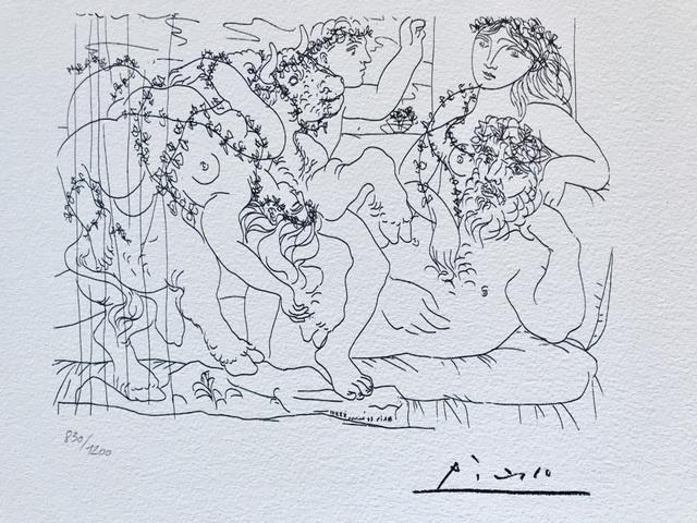 Pablo Picasso, 'Garçon et modèle avec un groupe sculpté représentant le Rapt d'Europe', 1973, ByNewArt