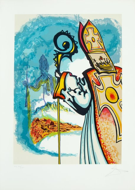 Salvador Dalí, 'King Richard, from Ivanhoe', 1978, Print, Lithographs in colors on Arches paper, Heritage Auctions