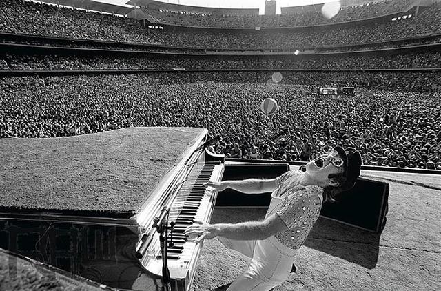 , 'Elton John Dodger Stadium, Howling,' 1975, Mouche Gallery