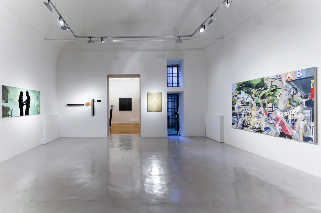 Installation view Thorsten Kirchhoff, Emmanuele De Ruvo, Pietro Fortuna, Luca Padroni — presso Montoro12 Contemporary Art.