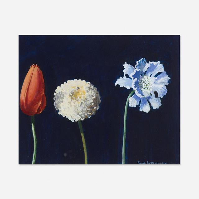 Paul Wonner, 'Three Flowers', 1987-88, Wright